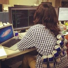 this will be me in college.except with green tea, not red bull Autocad, Psychology Humor, School Psychology, Nancy Reagan, Humor Grafico, Photos Of The Week, Make Me Smile, Laughter, Haha