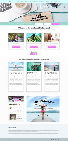New layout from Joyann Nielsen - lighworkerwebsites.academy soon to be released for The Awakened Professional