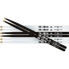 Vic Firth Drum Sticks (Black and White) Music X, Sound Of Music, Vic Firth Drumsticks, Percussion Drums, Band Nerd, How To Play Drums, Guitar Solo, Drum Kits, Holiday Wishes