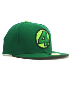 New Era Fantastic Four 59fifty Custom Fitted Hat Size 7 Green  fashion   clothing   6f7929a21b98