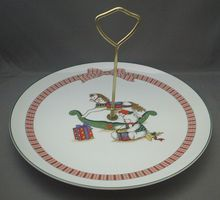 Holiday Memories Porcelain Tidbit Tray Anchor Hocking