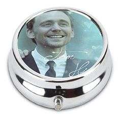 Tom Hiddleston Custom Fashion Pill Box Medicine Tablet Holder Organizer Case for Pocket or Purse *** Clicking on the VISIT button will lead you to find similar product