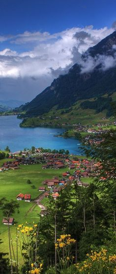 Lungern, Switzerland; a beautiful place to travel to.