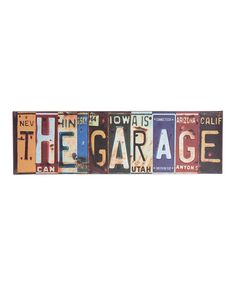 Take a look at this 'Garage' License Plate Sign by Lynn Roberts International on #zulily today!