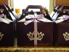 Sofia the First treat boxes