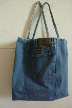 Reusable Denim Tote. $25.00, via Etsy.