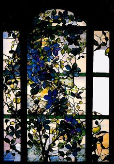 CLEMATIS WINDOW TIFFANY 1900-1910 POSTCARD | Flickr - Photo Sharing!
