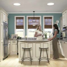 Craving more from your kitchen: The addition of VELUX Sun Tunnel skylights will add natural light in spaces that craves sunlight, including your kitchen. Sun Tube, Skylight Window, Kitchen Views, Cottage Interiors, Glass Design, Home Remodeling, Kitchen Remodel, Small Spaces, New Homes