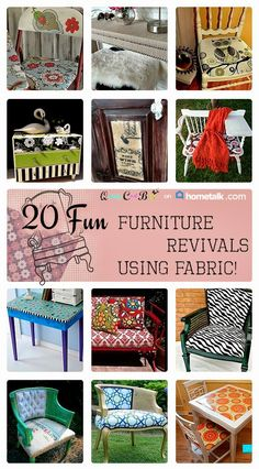 20 Fun Furniture Revivals Using Fabric | curated by 'Quirky Cool' blog!