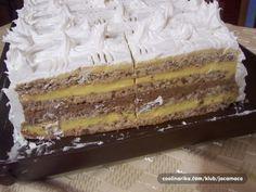 Fina, nežna, kremasta torta, po receptu moje majke Serbian Recipes, Serbian Food, Vanilla Cake, Cooking Recipes, Sweets, Desserts, Cakes, Drink, Crochet