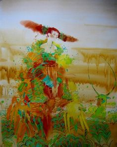 "Saatchi Online Artist Yulia Luchkina; Painting, ""EUROPE...?!!....Ah!!!! "" #art"