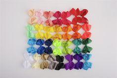 Allie- 4 Inch Boutique Bow hair clips - $1 EACH! Bows For Littles, LLC