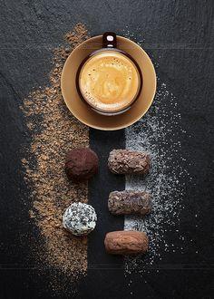Truffe au cocolat sur Ardoise avec café expresso - Antonio GAUDENCIO | Flickr – Condivisione di foto!