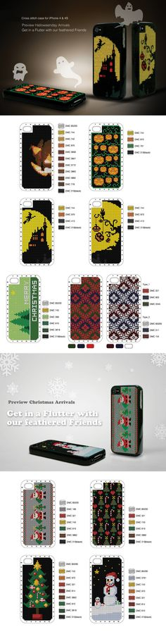 Halloween and Christmas versions from the designer(s) connect design for all iPhones - scroll down to find cover colors and designs