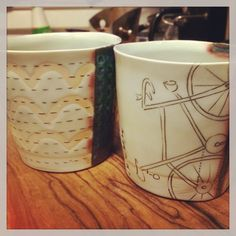 Usable art cups by #stepanka on Etsy