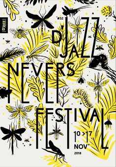Saved by Inspirationde (inspirationde). Discover more of the best Poster, Jazz, Festival, and Nevers inspiration on Designspiration Vintage Typography, Typography Poster, Graphic Design Typography, Poster Quotes, Fashion Typography, Japanese Typography, Creative Typography, Jazz Festival, Festival Posters