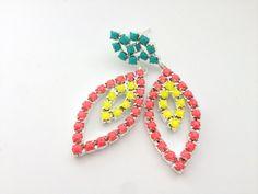 Neon earrings, $20