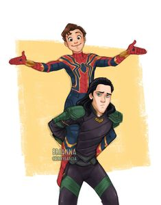 spiderman and loki fanart Marvel Dc, Marvel Funny, Marvel Memes, Spiderman Marvel, Captain Marvel, Avengers Fan Art, Marvel Fan Art, Loki Fan Art, Loki Thor
