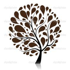 árbol de arte hermosa para su diseño - Ilustración de stock: 3606471