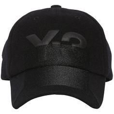 Y-3 Women X-ray Logo Wool Baseball Cap (375 SAR) ❤ liked on Polyvore  featuring accessories, hats, black, embroidery hats, curved brim hats,  baseball caps, ... 34ede398e7f