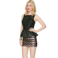 ❗️HOST PICK❗️World of Laser Cut Out Peplum Delicate peplum with edgy black and lace cut out detail. Pair with pants, jeans, or skirts! Foreign Exchange Tops