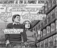 ... Alcanzamos al fin la madurez democrática. Miguel Brieva: humor cáustico.