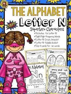 The Alphabet  'N' booklet features  interactive activities for the letter  'N'. Students get to compile all activities in a booklet to take home. https://www.teacherspayteachers.com/Product/PHONICS-THE-ALPHABET-LETTER-N-2382145