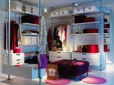 simple ikea walk in closet #ikea #stolmen