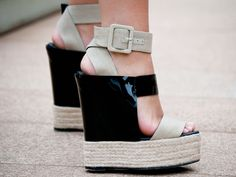 Pierre Hardy Towering Wedge Sandals