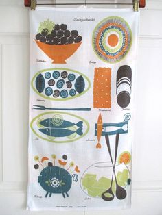 Vintage Towel Swedish Wall Hanging Fougstedt at NeatoKeen on Etsy