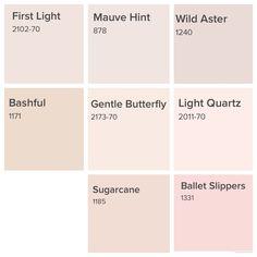 Pink Paint Colors, Paint Colors For Home, Room Colors, Wall Colors, House Colors, Bedroom Colours, Colour Pallete, Colour Schemes, Paint Swatches