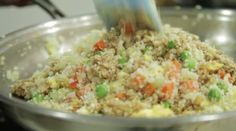 This Delicious Recipe Uses Cauliflower To Make A Healthy Fried Rice via LittleThings.com