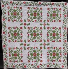 Rose of Sharon Applique Quilt at http://www.antiquequilts.com/catalog11.htm#17922