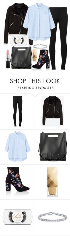 """Untitled #1576"" by mihai-theodora ❤ liked on Polyvore featuring Puma, MANGO, Gucci, Miss Selfridge, Burberry, MAC Cosmetics and Bling Jewelry"