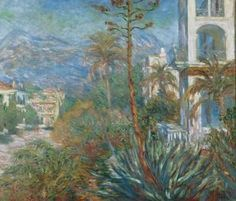 Villas in Bordighera, Italy by Claude Monet : Claude Monet Paintings 1879-1886 - howstuffworks  #art #painting #Monet