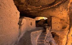 The Gila Cliff Dwellings National Monument contains caves that have been used as shelters by nomadic... - Getty Images