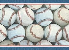 Ordinaire Baseball Wallpaper Border With Blue And Burgundy Trim  7 Inches By 15 Feet  Long  Sale Price $14.96