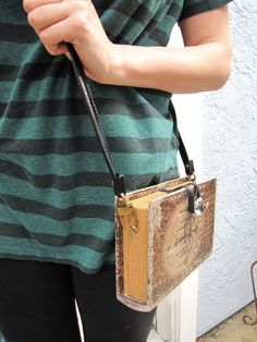 My DIY project results from the day- book crossbody bag.