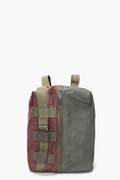 COMME DES GARÇONS SHIRT Olive & Brown Canvas Duffle Bag $185