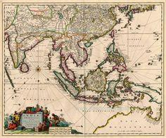 Indiae Orientalis nec non Insularum Adiacentium Nova Descriptio - Visscher N. II, 1683-1696