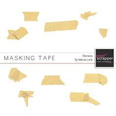 Masking Tape Kit | digital scrapbooking