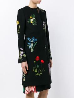 Stella McCartney Nadia Floral Coat Floral Embroidery, Warm Weather, Fashion Outfits, Fashion Clothes, Stella Mccartney, Cool Designs, Luxury Fashion, Floral Prints, Cold Shoulder Dress