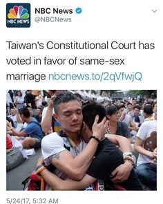 """Repost @secretlyprettygay - -  Taiwan's top judges have decided in favour of same-sex marriage paving the way for it to become the first place in Asia to do so. - Follow my personal @itsbloodyspg (Accepting some people) -  http://ift.tt/1T1onX5  Coupon code 10% off """" SPG """"  Link in bio  - #gay #gaylike #gaylove #gaypride #gayquote #lovequote #lgbt #lgbtq #lgbtyouth #lgbtqa  #lgbtcommunity #quote #quotes #lesbian #bi #bisexual #trans #transsexual #pansexual #transgender #pride #lovewins…"""