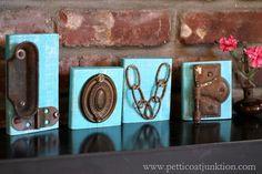 DIY Love Letters Junk Project Petticoat Junktion