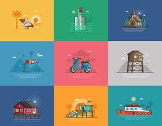 """Check out new work on my @Behance portfolio: """"Summer Seaside Collection"""" http://be.net/gallery/51232019/Summer-Seaside-Collection"""
