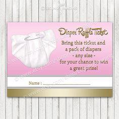 Diaper Raffle Tickets by LegendImaging on Etsy