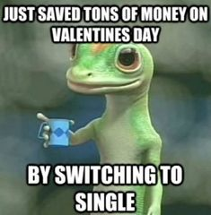 Just saved tons of money on Valentines Day by switching to single. #Valentinesdaymemes #Funnyvalentinesdaymemes #Valentinesmemesforsingle #Cutevalentinesmemes #Sarcasticvalentinesmemes #Funnyvalentinequotes #Hilariousvalentinedayquotes #Wittyvalentinequotes #2021Valentinesdayquotes #Valentinedayquote #HappyValentinedayquotes #Realtionshipquotes #Valentinesday2021quotes #Lovequotes #Lovesayings #Sweetlovequotes #Shortlovesayings #Cutequotes #Speciallovequotes #Quotesandsayings #therandomvibez Valentines Day Memes, Funny Valentine, Pictures Images, Funny Pictures, Carl Azuz, Special Love Quotes, Singles Awareness Day, Image Memes, Cry For Help