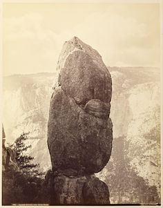 Carleton Watkins (American, 1829-1916), Agassiz Rock and the Yosemite Falls, from Union Point, No. 844, about 1878, Albumen silver print, 54.4 x 39.2 cm, The J. Paul Getty Museum, Los Angeles, 2004.70.