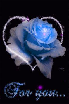 For You Friend A Blue Rose friendship blue flowers glitter rose friend gif friend quote graphic for you friend animated Flowers Gif, Pretty Flowers, Flowers For You, Beautiful Gif, Beautiful Roses, Rosas Gif, Beau Gif, Hearts And Roses, Glitter Graphics