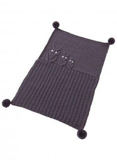 Kit couverture 3 hiboux rose Kits, broderie & tricot Achat en ligne